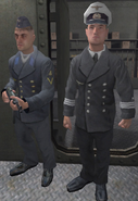 Kriegsmarine Officer and Sailor Guarding Armory