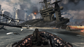 Boat chase and destroyed carrier Hunter Killer MW3.png