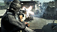 OpFor soldier firing M249 SAW COD4