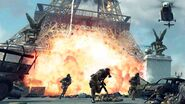 Explosion and enemies at Eiffel Tower Iron Lady MW3