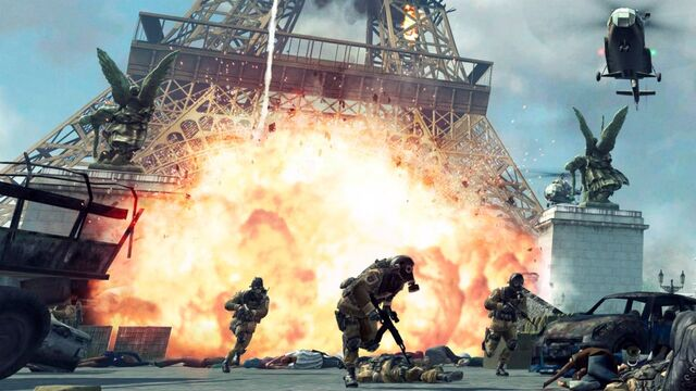 File:Explosion and enemies at Eiffel Tower Iron Lady MW3.jpg