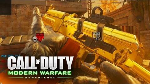 COD 4 REMASTERED AK74U GAMEPLAY (Vacant Kill Confirmed)