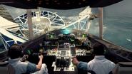 Aeroplane landing Colossus resort BOII