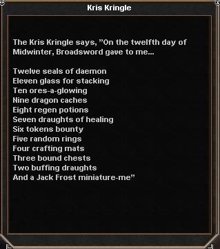 Midwinter rewards