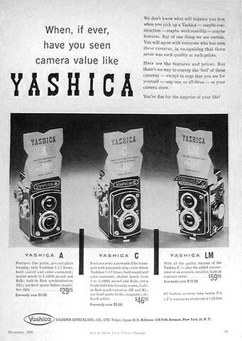 File:Dec 1956 Yashica A, C & LM .jpg