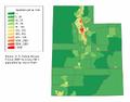 Utah population map.png