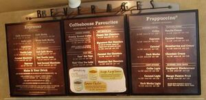 Starbucksmenu