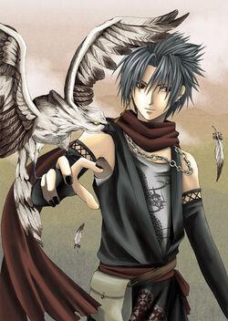 Boy With Hawk by hyperteenager