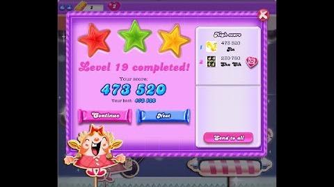 Candy Crush Saga Dreamworld Level 19 ★★★ 3 Stars