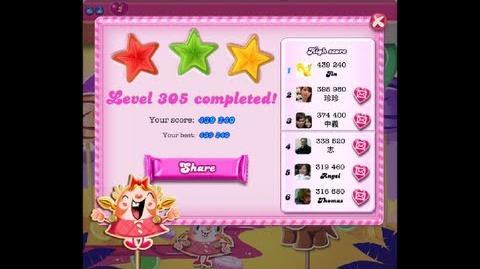 Candy Crush Saga Level 305 ★★★ NO BOOSTER - NEW