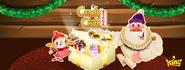 Candy Crush Saga christmas background 2016 cover