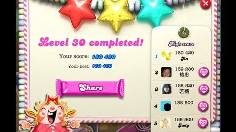 Candy Crush Saga Level 30 ★★★ no boosters - 180 420 points