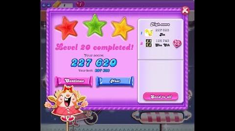 Candy Crush Saga Dreamworld Level 20 ★★★ 3 Stars