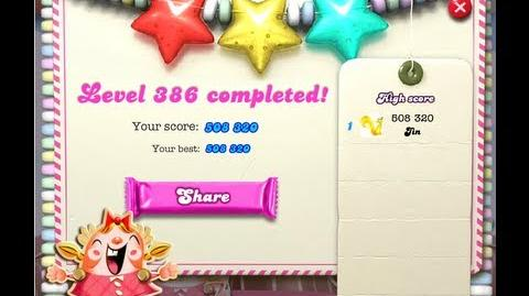 Candy Crush Saga Level 386 ★★★