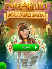 Pyramid Solitaire Saga IPad 2 jungle layout