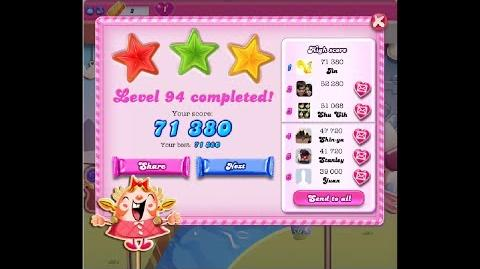 Candy Crush Saga Level 94 ★★★ NO BOOSTER