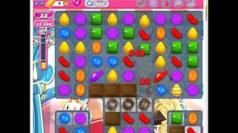 Video candy crush saga level 485 jelly fish and color for Candy crush fish