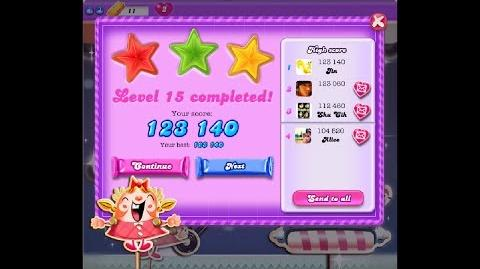 Candy Crush Saga Dreamworld Level 15 ★★★ 3 Stars