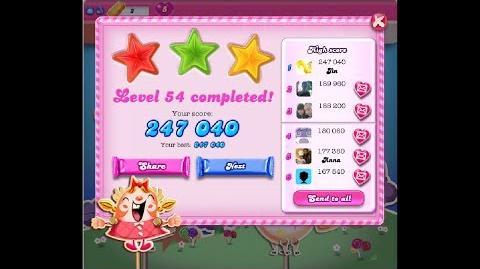 Candy Crush Saga Level 54 ★★★ NO BOOSTER