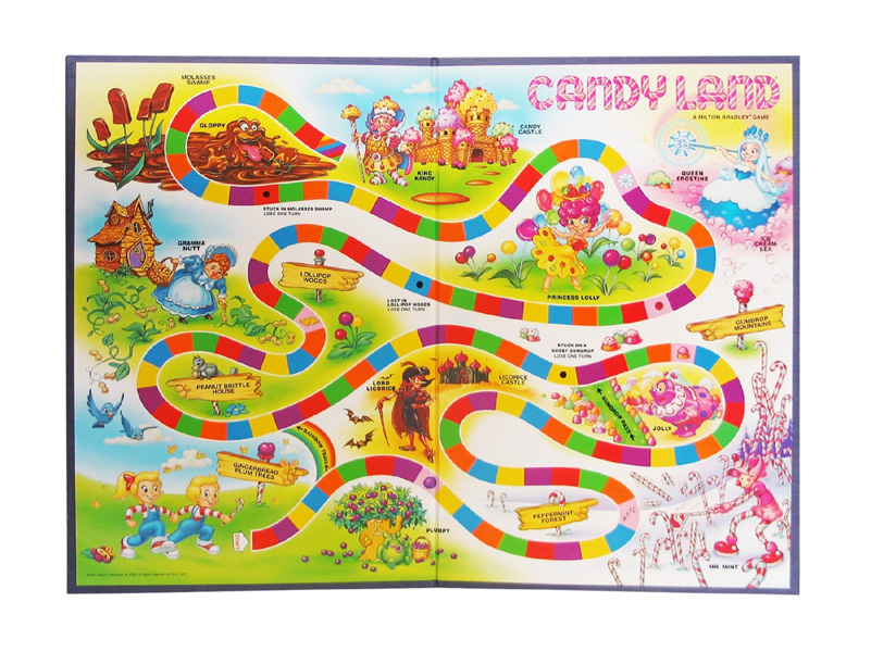 Candyland can be used in the classroom with any topics. Just create your own colored cards!