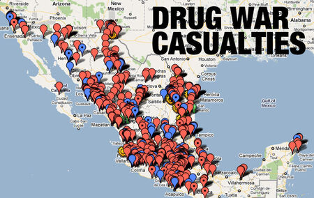 Mexico Drug War casualties map