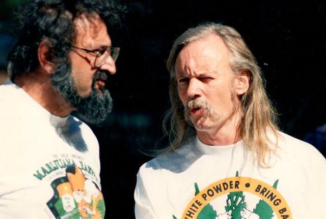 File:Jack Herer, Dana Beal. 1989 Great Midwest Marijuana Harvest Fest in Madison Wisconsin.jpg