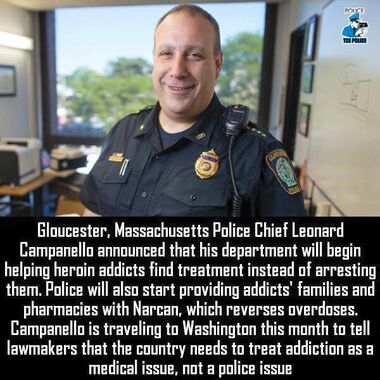 Police chief Leonard Campanello on heroin treatment