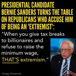Bernie Sanders on Republican extremism