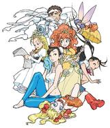 Kinu Nishimura Jin and Girls
