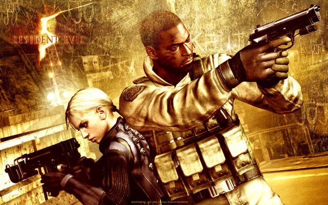 File:Resident Evil 5 - Desperate Escape wallpaper - Jill Valentine & .jpg