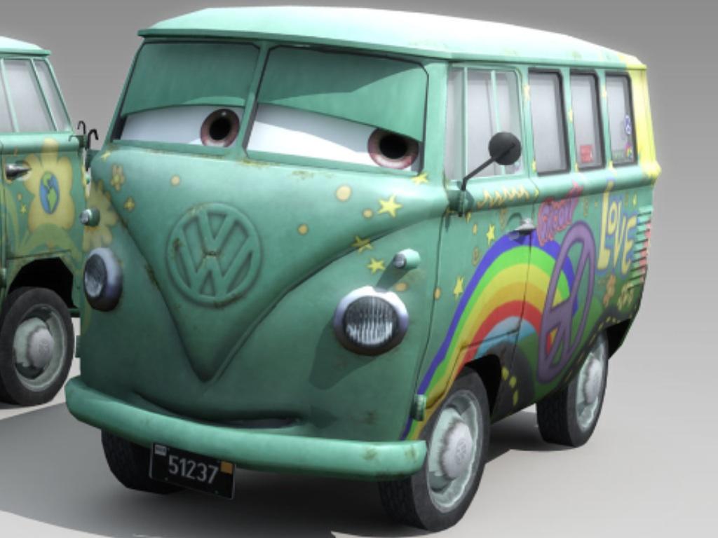 Pixar Cars 2 - Turntable Fillmore (2011) (High Def) - YouTube |Fillmore Cars