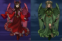 Ruby and Emerald the Double Angels