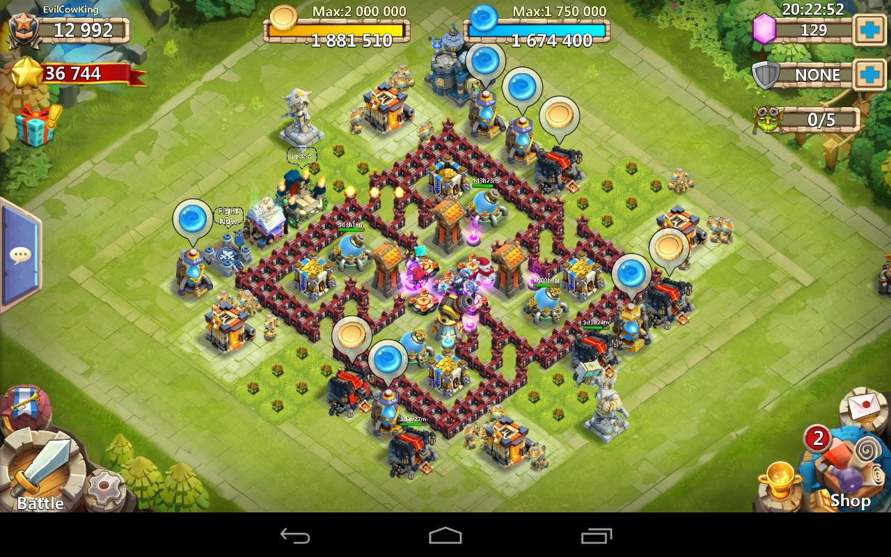 castle clash how to build walls