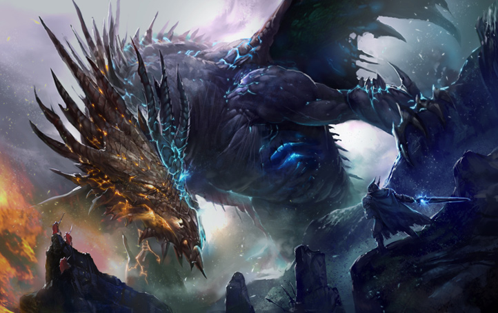 giant giant fire dragon vs ice dragon - photo #11