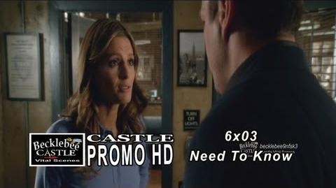 "Castle 6x03 Promo ""Need To Know"" (HD) Season 6 Episode 3 Preview ABC"