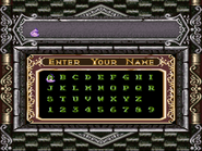 Super Castlevania IV - Name Entry Screen - 01