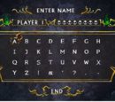 Name Entry Screen