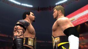 Rom representing RAW & 2TM representing Smackdown