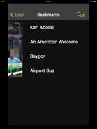 GTA Bookmark Screen iPhone