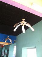 Ceiling fan in entertainment hall