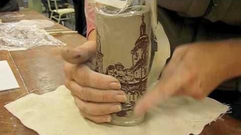 Serigrafia sobre ceramica - Daniel Pereyra