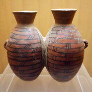 Yangshao culture,Dahecun type, twin hu, Zhengzhou