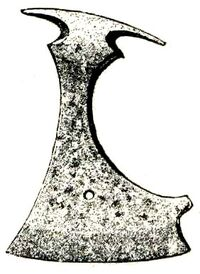 Axe of iron from Swedish Iron Age, found at Gotland, Sweden.jpg