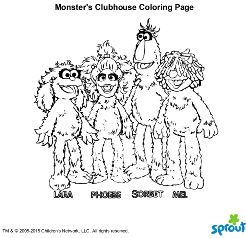 Sesame Street T Shirts  American Apparel moreover File Monster's Clubhouse Coloring Page further  on sesame street herry monster coloring pages