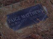 Paige's Tombstone