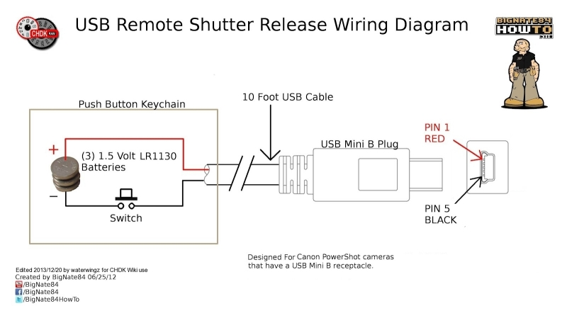 0001 USB Remote Shutter Wiring Diagram -3