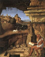 Giovanni Bellini St Jerome Reading in the Countryside
