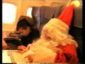 Santa-eatingontheplane