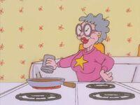 Grandma puts chili powder in the gravy