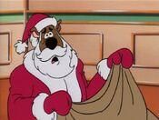 Scooby as Santa